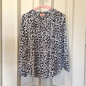 Joie Peterson Leopard Silk Animal Print Blouse
